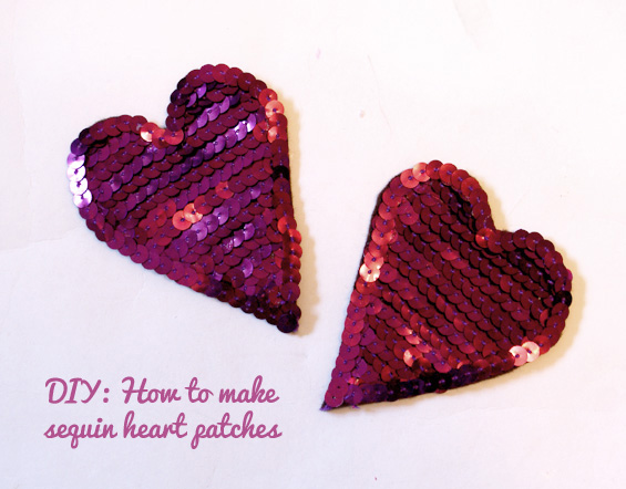 DIY: How To Make Sequin Heart Patches | Miss V Vio