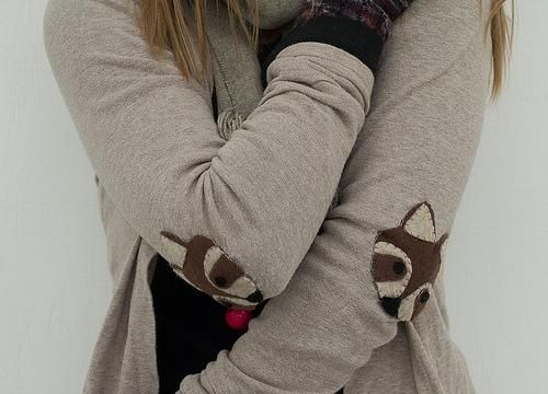 DIY Elbow Patches DIY: raccoon week: elbow patches | Diy clothes .