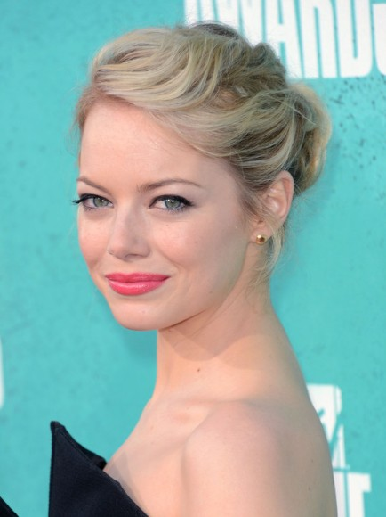 Emma Stone updo hairstyles for Prom - PoPular Haircu