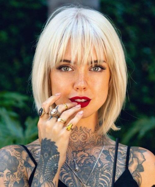 Eye Catching Full Fringe Bob Haircuts and Hairstyles 2020 for Your .