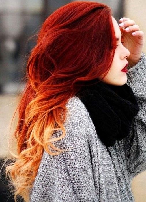 43 Most Gorgeous and Eye-Catching 🌅 Sunset Hair Colour Long Hair .
