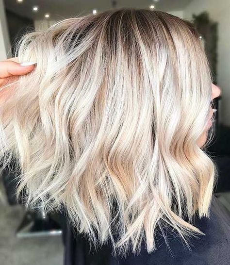 Eye-Catching 23 New Short Blonde Hairstyles | Platin blond ombre .