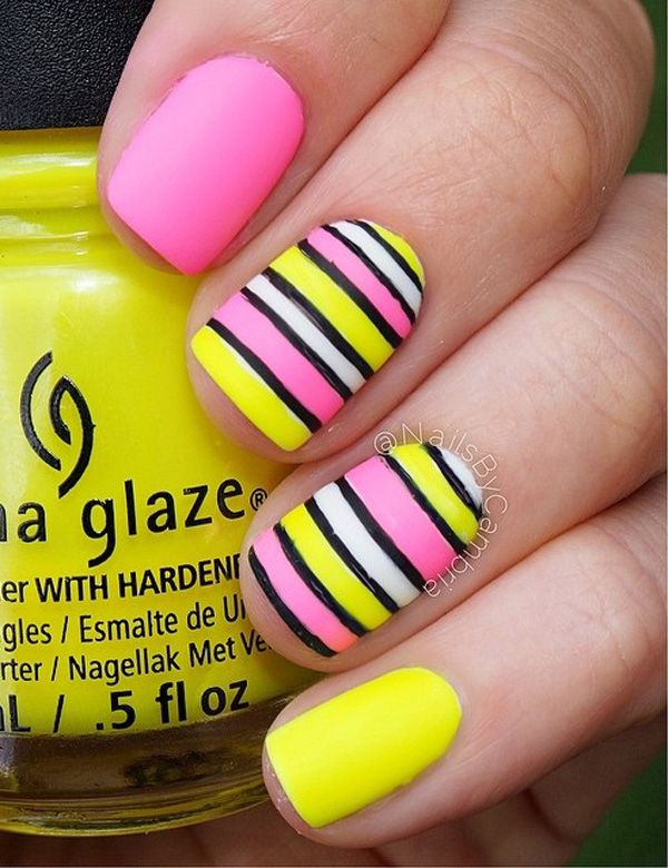 50 Lovely Spring Nail Art Ideas | Yellow nails, Yellow nail art .
