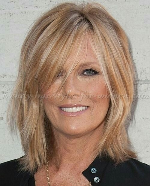 Decent Haircuts for Fine Hair Over 40 | Medium hair styles, Bangs .