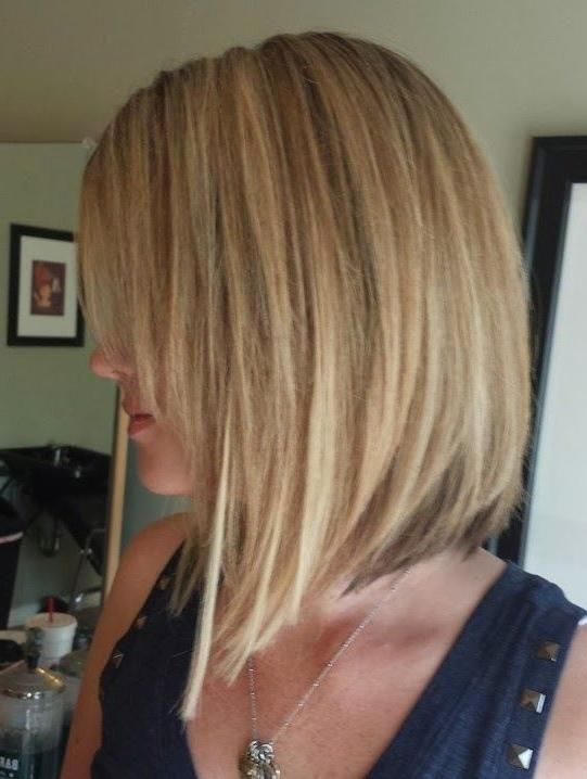 Medium Length Inverted Bob Hairstyles For Fine Hair | Inverted bob .