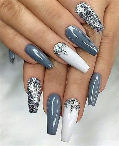 40+ FANTASTIC NAILS DESIGNS GLITTER COLOR COMBOS 2019 - HAVE A .