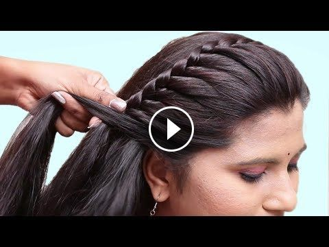 Easy Hairstyles for Wedding/Party | Braided hairstyles easy, Side .