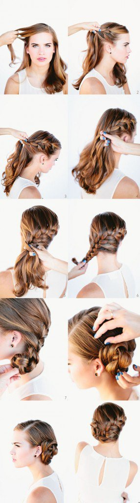12 Beautiful & Fashionable Step by Step Hairstyle Tutorials .