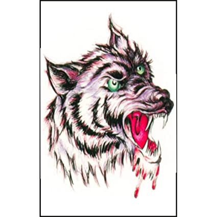 Wolf Temporary Tattoos for Women Fashionable 3D Animals Tattoo .