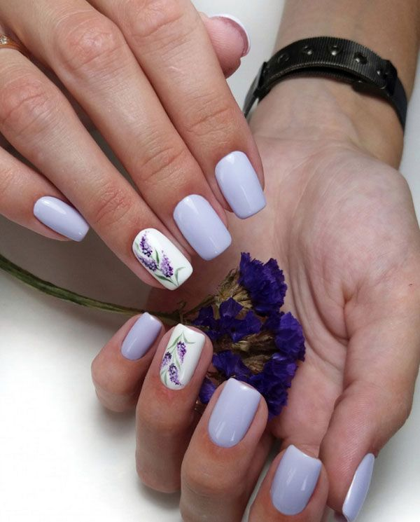 Stylish Spring Nail Designs and Ideas 2020 | Lavender nails, Cute .