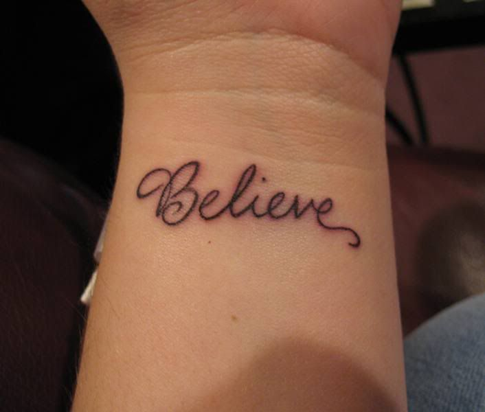 Wrist Tattoos Ideas | Believe wrist tattoo, Believe tattoos, Wrist .