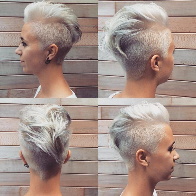 Pin by Meaghann Frank on Hair and Style in 2020 | Faux hawk .