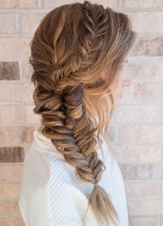Fishtail Braids Hairstyles 12 … | Side hairstyles, Long hair .