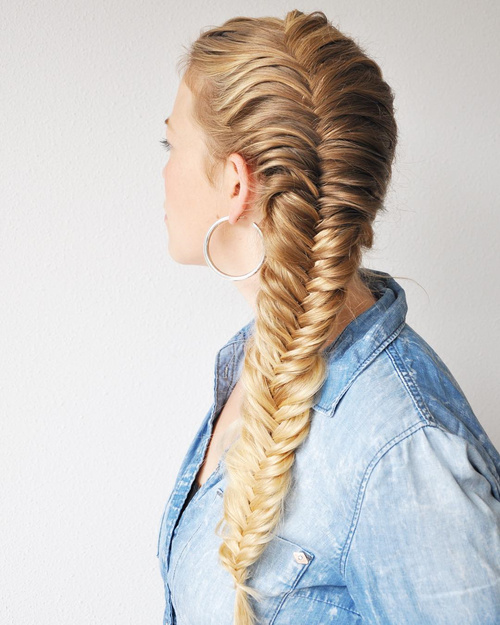 40 Awesome Jazzed Up Fishtail Braid Hairstyl