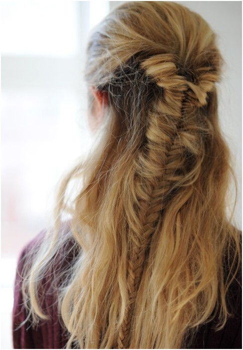 Easy Half Fishtail Braid, Braided Hairstyles Trends - PoPular Haircu