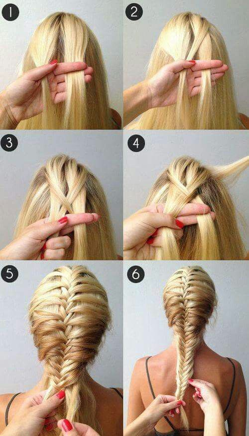 A beautiful French fishtail braidso easy takes a while to get the .