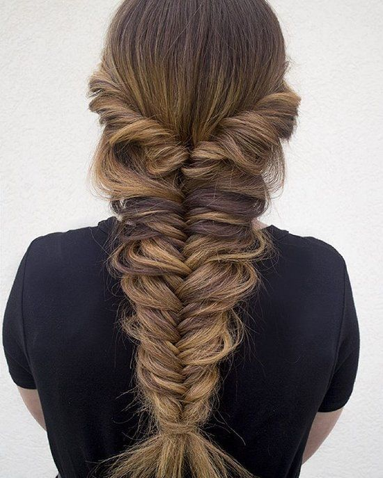 fishtail braid | Thick Messy Fishtail Braid Pictures, Photos, and .