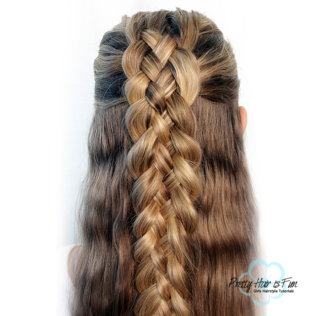 DUTCH FIVE STRAND BRAID – PRETTY HAIR IS FUN – Pretty Hair is Fun .