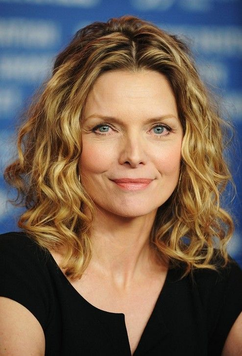 Loose Curly Hairstyle for Women Age Over 50 - Michelle Pfeiffer .