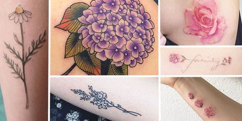 17 Adorable Floral Tattoos You're Going to Be Obsessed Wi