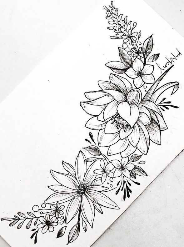 Floral Tattoo Designs for the Season