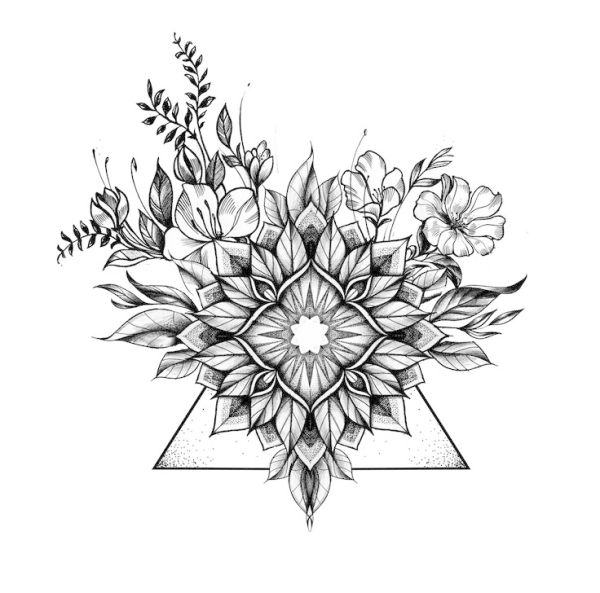Floral geometric tattoo … | Geometric mandala tattoo, Floral .