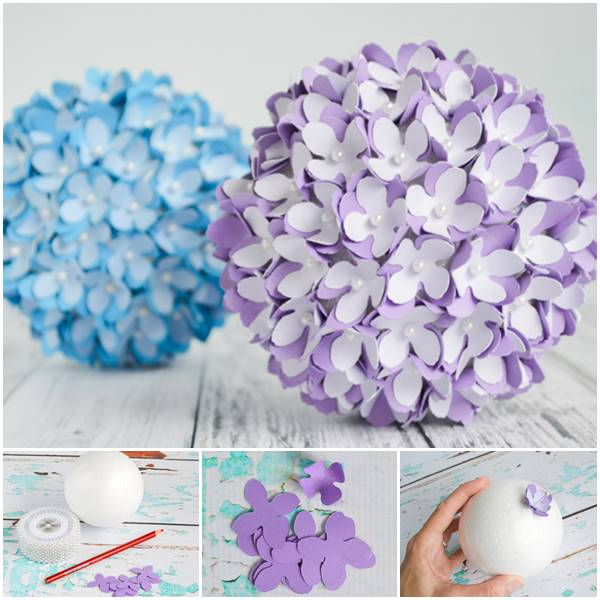 Creative Ideas - DIY Paper Flower Kissing Ball for Weddi