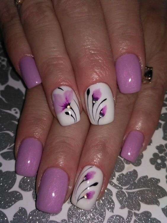 90+ Stylish Spring Flower Nail Art Designs and Ideas 2019 – Page .