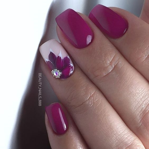 90+ Stylish Spring Flower Nail Art Designs and Ideas 2019 | Flower .