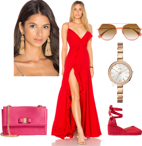Red Dress and Accessories! Outfit | ShopLo