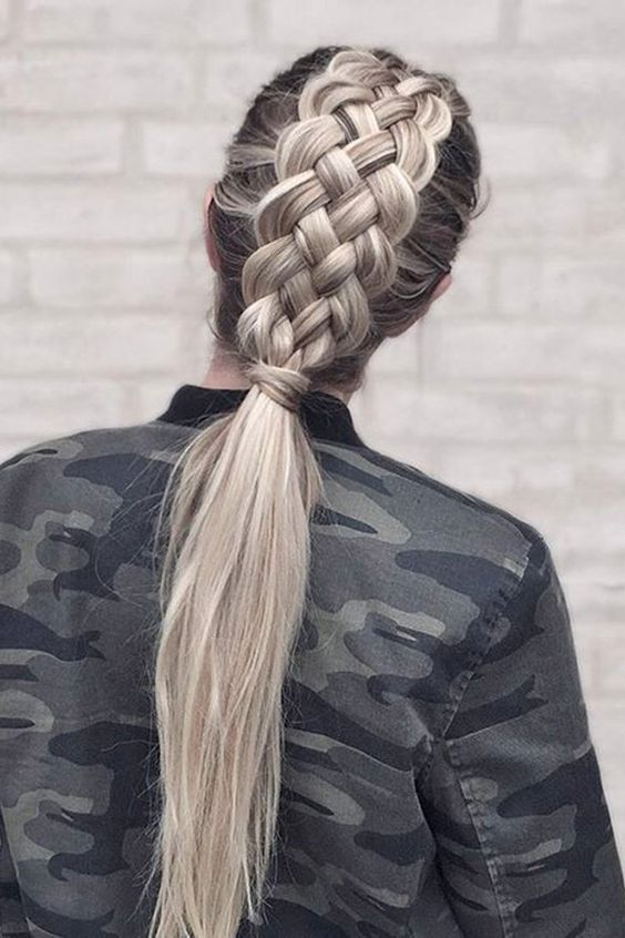 Double French Braid Hairstyle Pictures, Photos, and Images for .