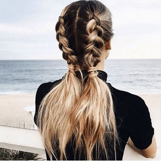 Adorable French Braid Ponytails For Long Hair - Miladies.n