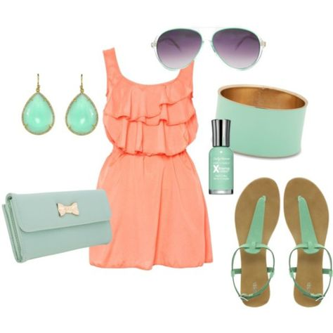 15 Fresh Spring Polyvore Combinations in Popular Mint | Fashion .