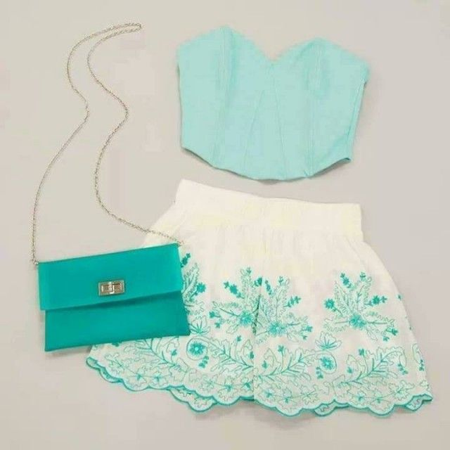 15 Fresh Spring Polyvore Combinations in Popular Mint | Modestil .