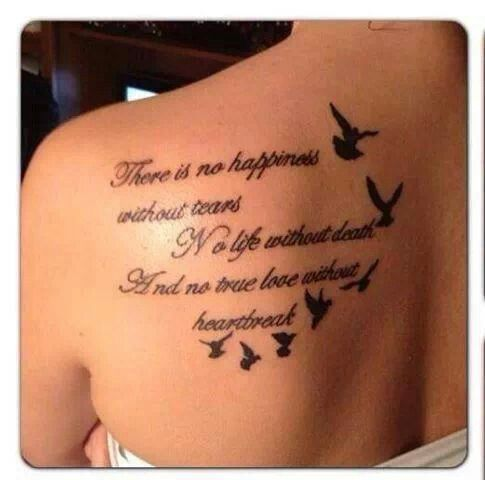 20 Girl Quote Tattoos You May Love | Meaningful tattoo quotes .