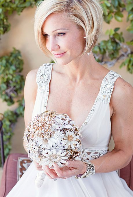Wedding Hairstyles for Brides with Short Hair | Bob wedding .