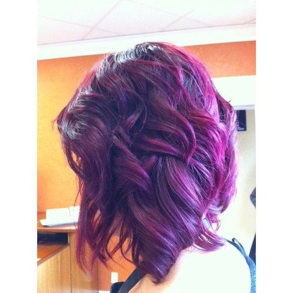 16 Glamorous Purple Hairstyles ❤ liked on Polyvore featuring .