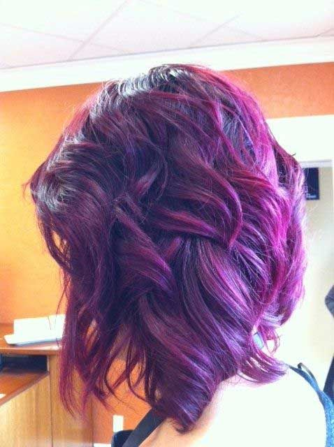 16 Glamorous Purple Hairstyles - Pretty Desig