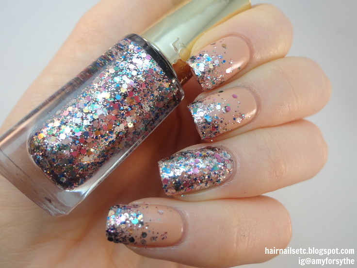 10 Super Easy Glittery Nail Art Ideas - crazyfor