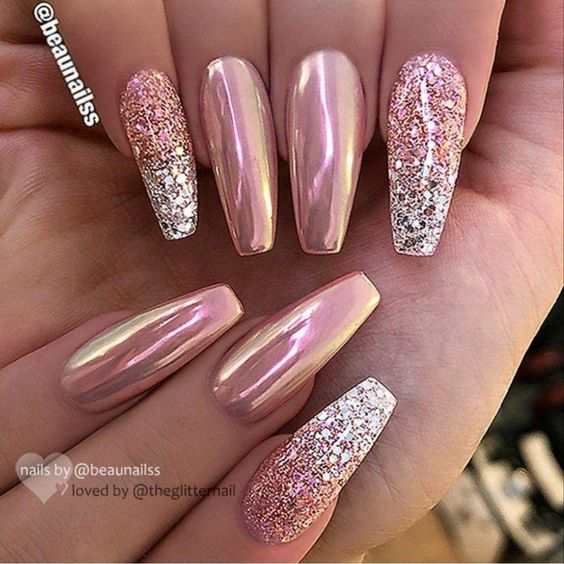 36 Elegant Glitter Nail Art Design Ideas – Page 3 – Tiger Fe