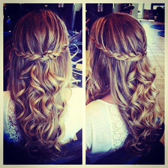 Fascinating Golden Curls for Romantic Women | Pretty hairstyles .
