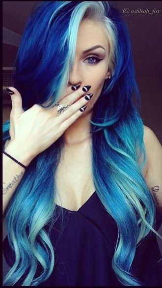 17 Great Blue Hairstyles | Hair, Hair styles, Blue ha