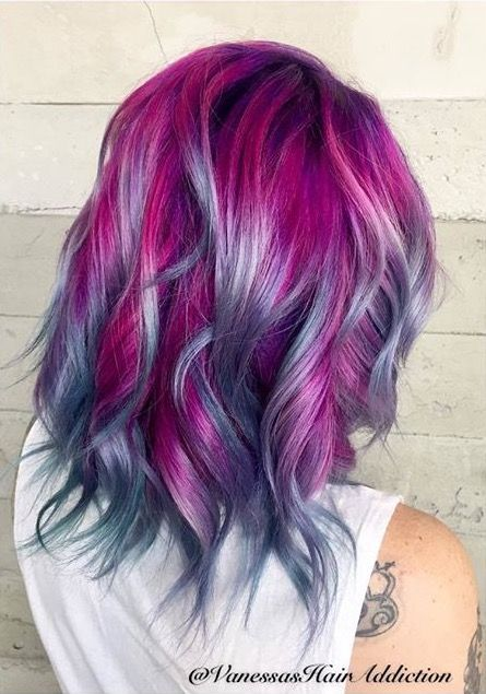Great color combination! | Hair styles, Hair color purple, Hair .