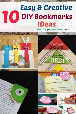 10 Creative and Easy DIY Bookmarks Ideas You Can Try | How to make .