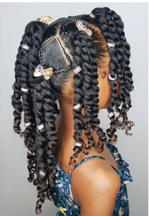 Black Kids Hairstyles with Beads | Black kids hairstyles, Lil girl .