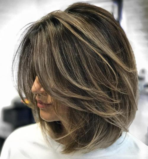 70 Brightest Medium Length Layered Haircuts and Hairstyl