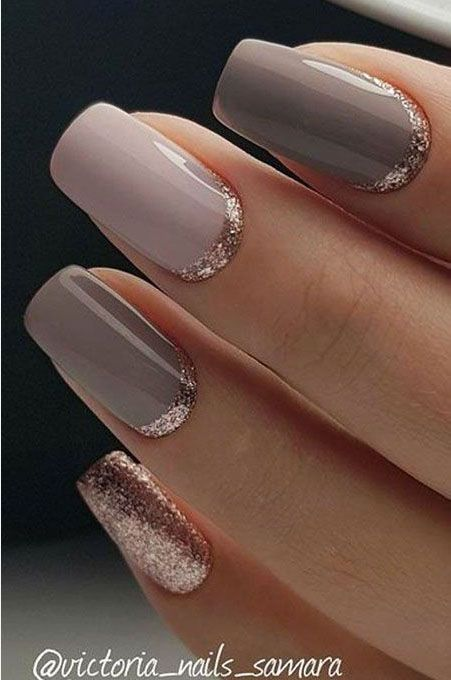 56 Classy Skin Color Nail Art Designs in 2020 | Gold gel nails .