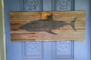 Shark wall art upcycled wood great white wooden by JohnBirdsong .