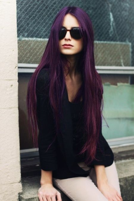 10 Cool and Funky Hair Colors To Try Out | Hair color purple, Dark .