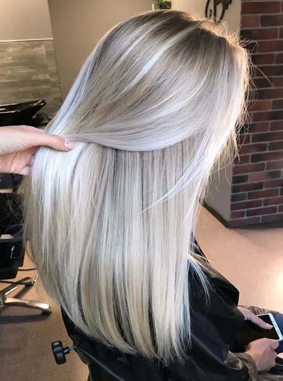 Platinum Pearl Blonde Hair Colors For Long Hair | Absurd Styl